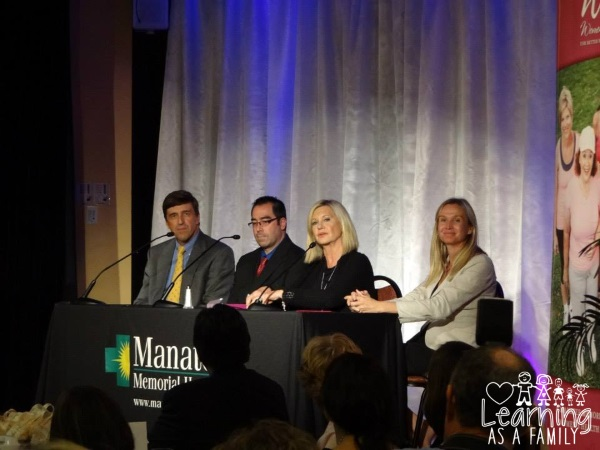 Olivia Newton John and Speakers at WE Women Enlightened Event
