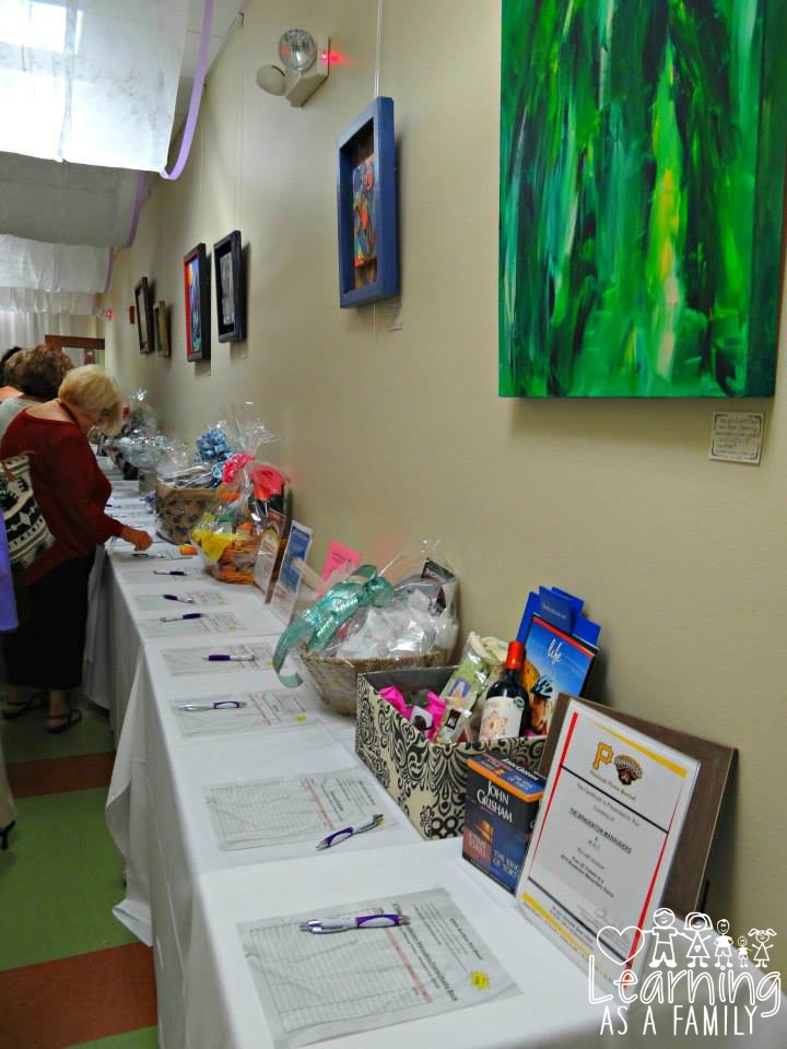 Silent Auction at WE women Enlightened Event