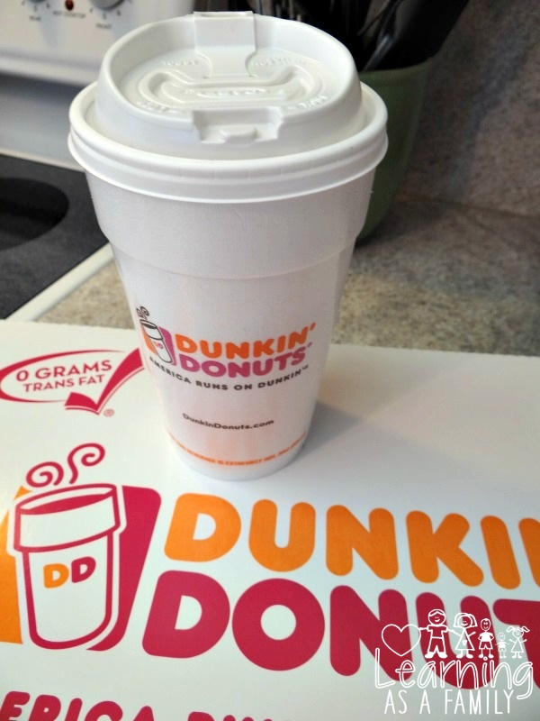 Coffee and Donuts from Dunkin Donuts