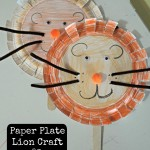 Paper Plate Lion Craft! Easy Activity and Teaches the Letter L!