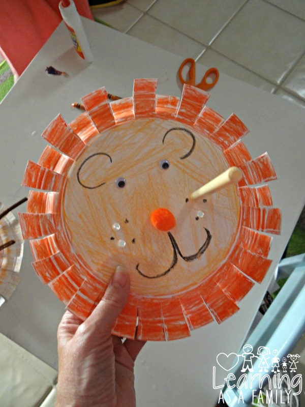 Paper Plate Lion Whiskers