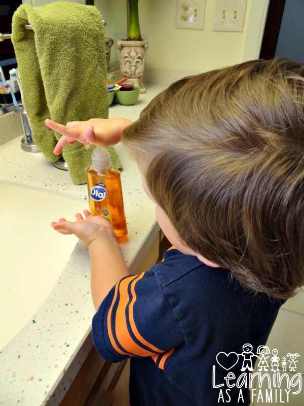 Potty Training with Dial Miracle Oil Hand Soap
