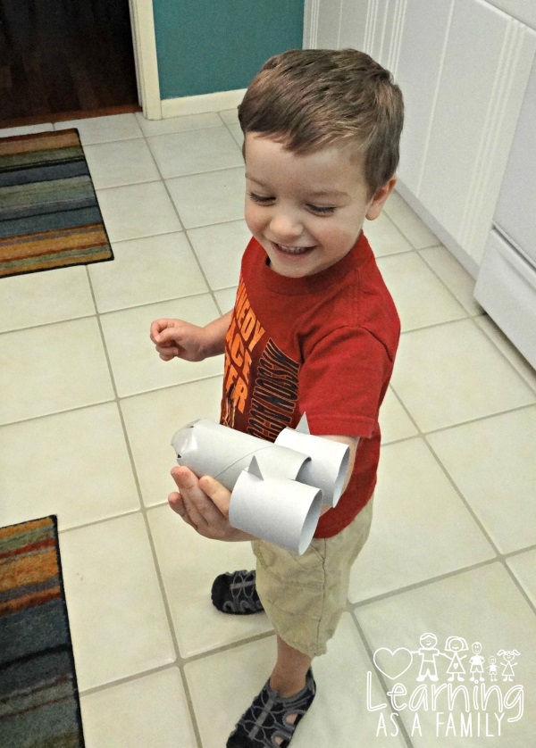 Toilet Paper Roll Rocket Ship