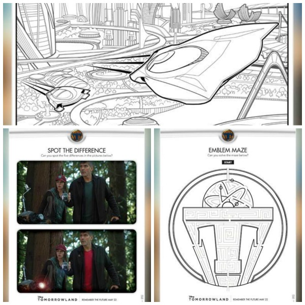 Tomorrowland Activity and Coloring Sheets