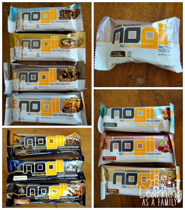 Varieties of Nogii Gluten Free Bars