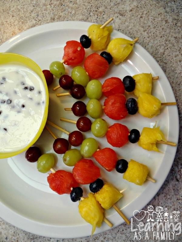 Fruit Kabobs with Fruit Dip