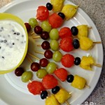 Fruit Kabobs with Dip Recipe!