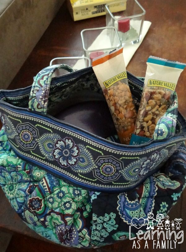 Nature Valley Simple Nut Bars in a purse for on the go