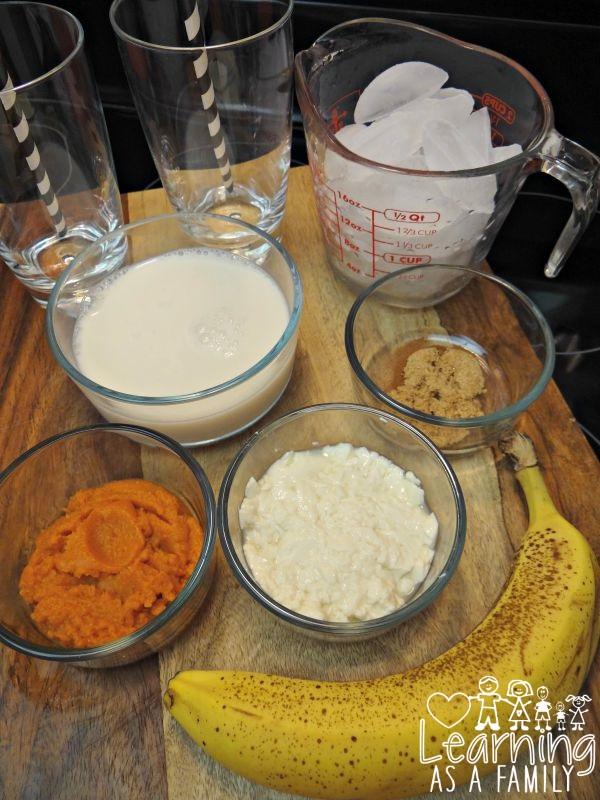 Pumpkin Smoothie Recipe Ingredients