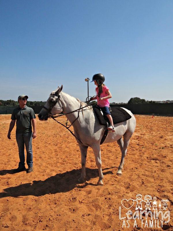 Riding a horse Al-Marah Arabians Clermont, FL