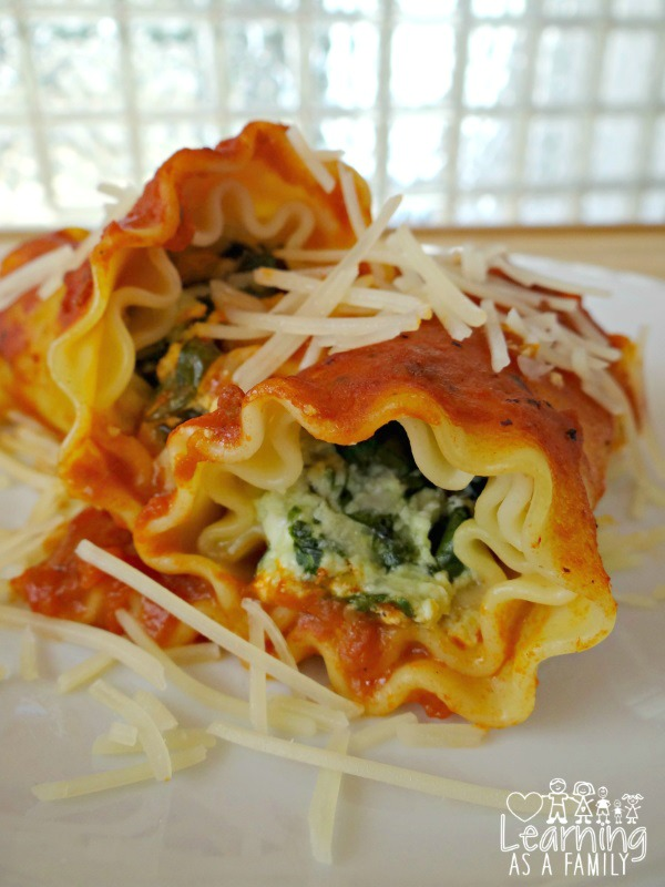 Spinach and 3 Cheese Lasagna Rolls Recipe Photo