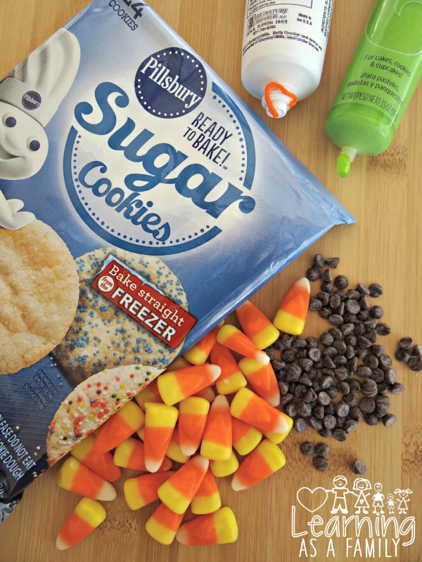 What you need to make a Turkey Cookie