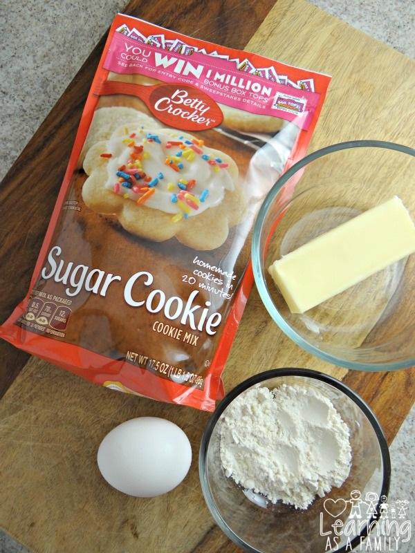 Ingredients to make Betty Crocker Sugar Cookie Mix