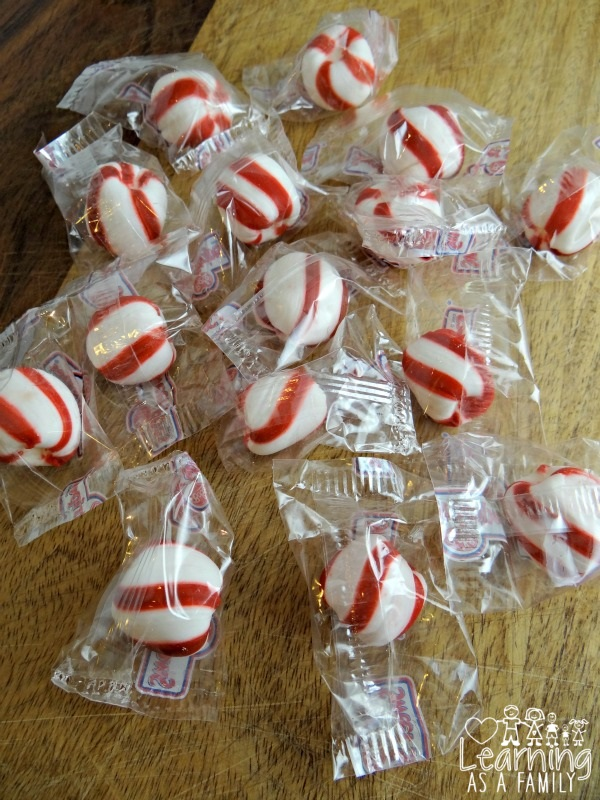 Stripy Sweets in packages
