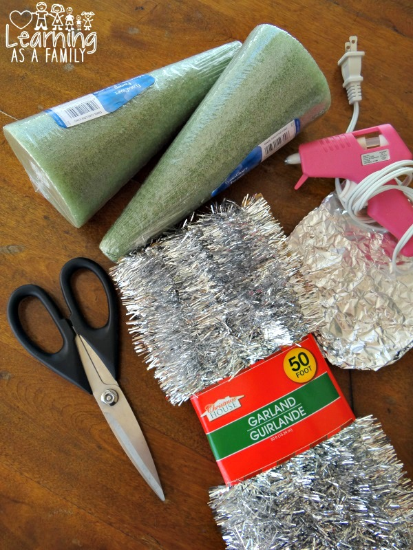 What you need for a Handmade Garland Christmas Tree
