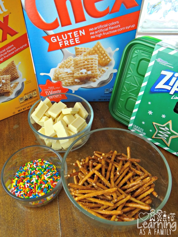 White Chocolate Chex Party Mix Ingredients