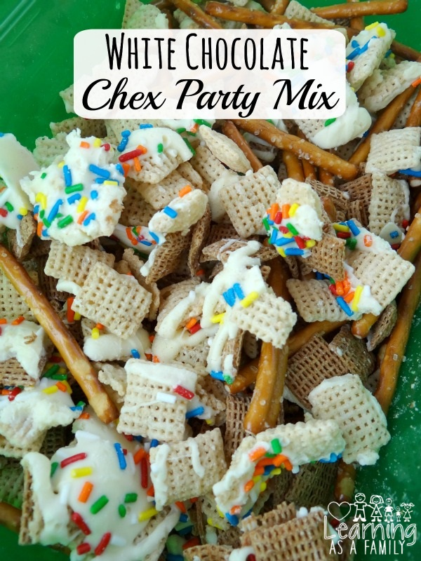 White Chocolate Chex Party Mix Recipe