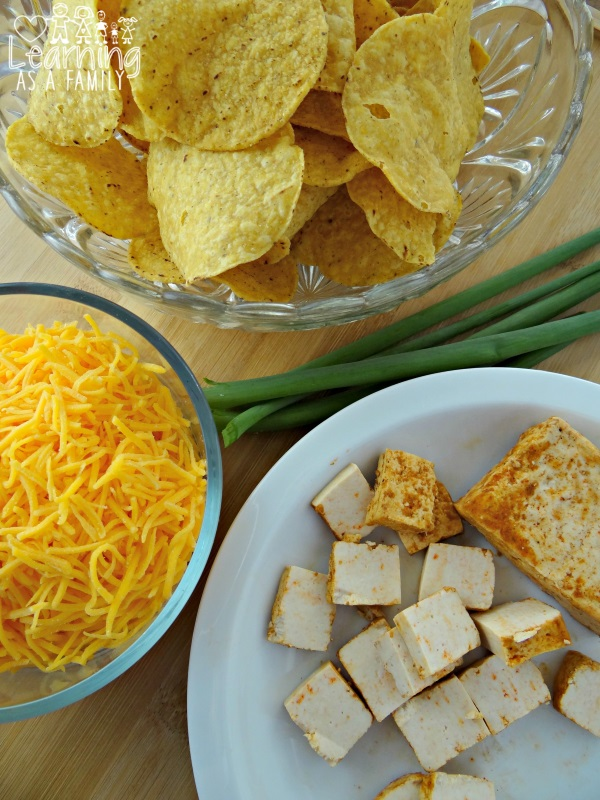 Chipotle Tortilla Appetizers and Ingredients