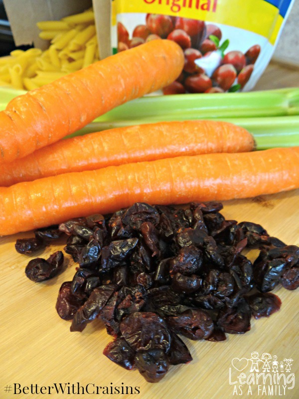 Fresh Vegetables and Craisins Dried Cranberries for Pasta Salad
