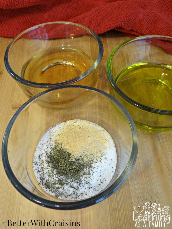Ingredients for Apple Cider Vinaigrette