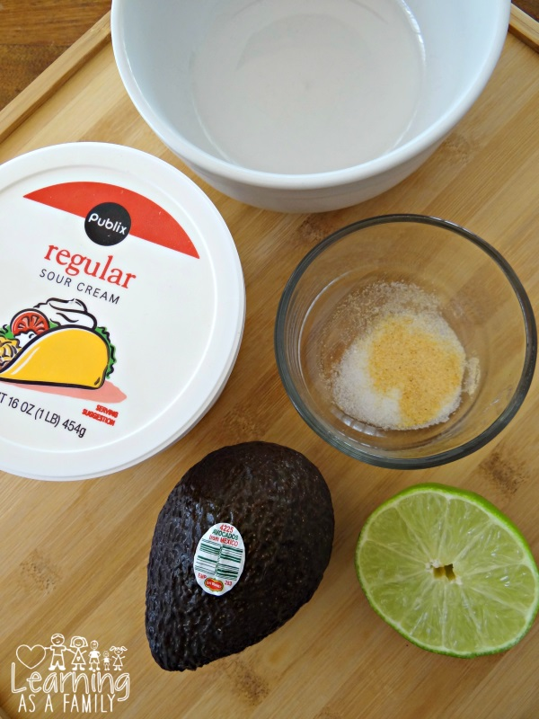 Ingredients for Avocado Lime Sauce