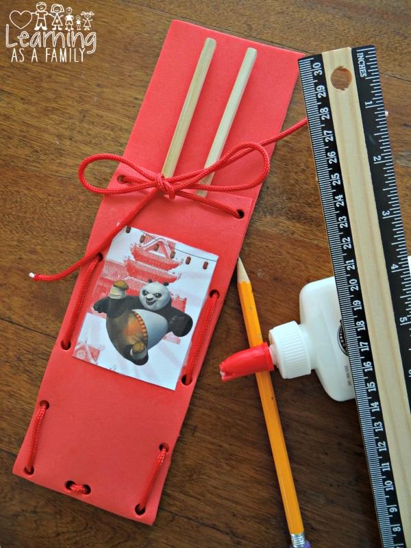 Kung Fu Panda Chopstick Pouch