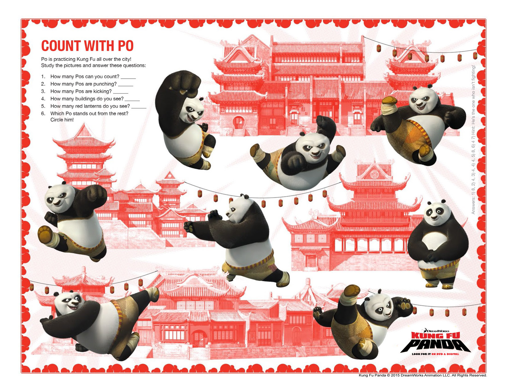 Kung Fu Panda Printable Activity