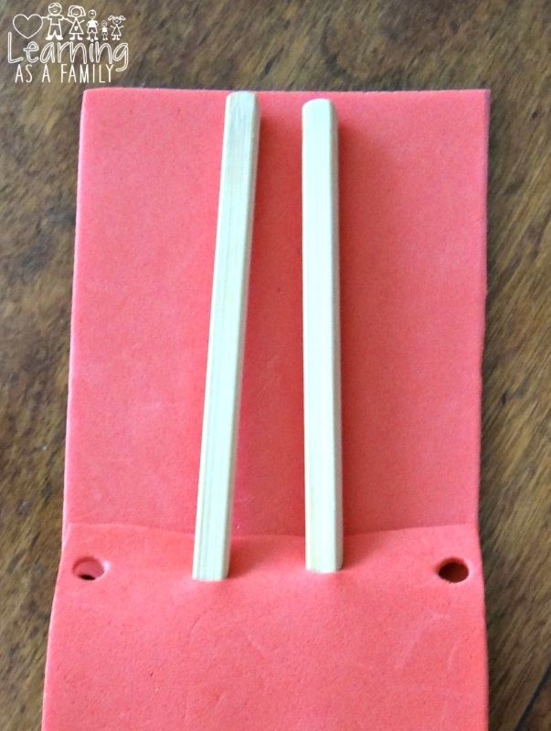 Making a Chopstick Pouch Craft