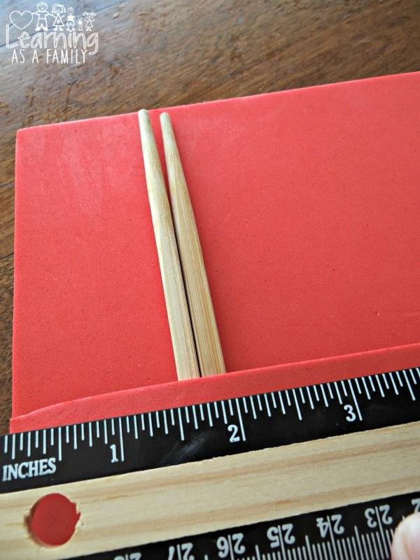 Measuring Kung Fu Panda Chopstick Pouch Craft