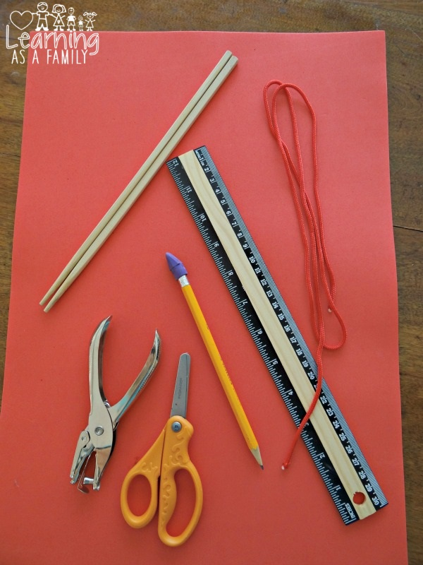 What you need for a Chopstick Pouch Craft