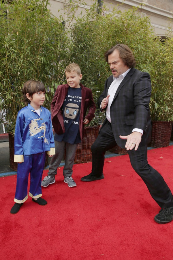 Thomas David Black, Samuel Jason Black and Jack Black seen at DreamWorks Animation and Twentieth Century Fox World Premiere of 'Kung Fu Panda 3' at TCL Chinese Theater on Saturday, Jan. 16, 2016, in Hollywood, CA. (Photo by Eric Charbonneau/Invision for Twentieth Century Fox/AP Images)