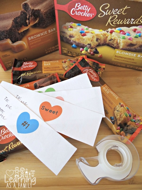 Betty Crocker Sweet Rewards bars with Valentine's Day Printable