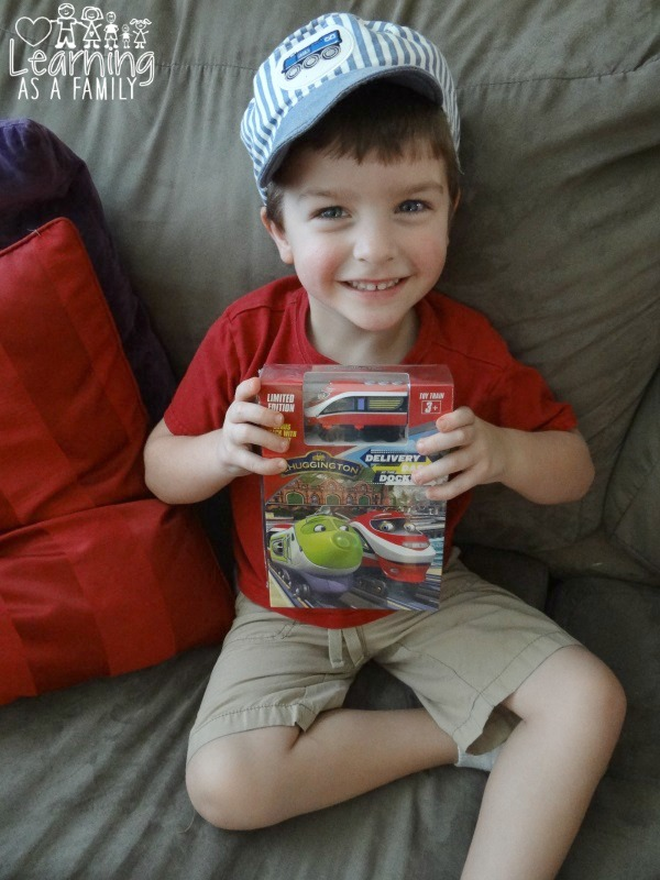Holding the Chuggington Dash At The Docks Box with Train 3D