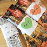 Printable Valentine's Day Heart Wraps For Candy Bars!
