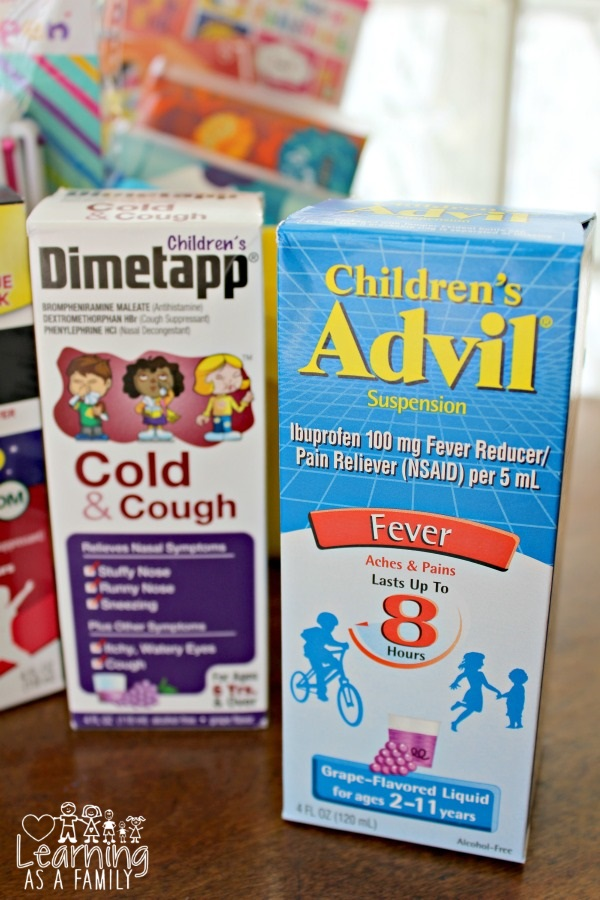 Children's Advil and Dimetapp at Target