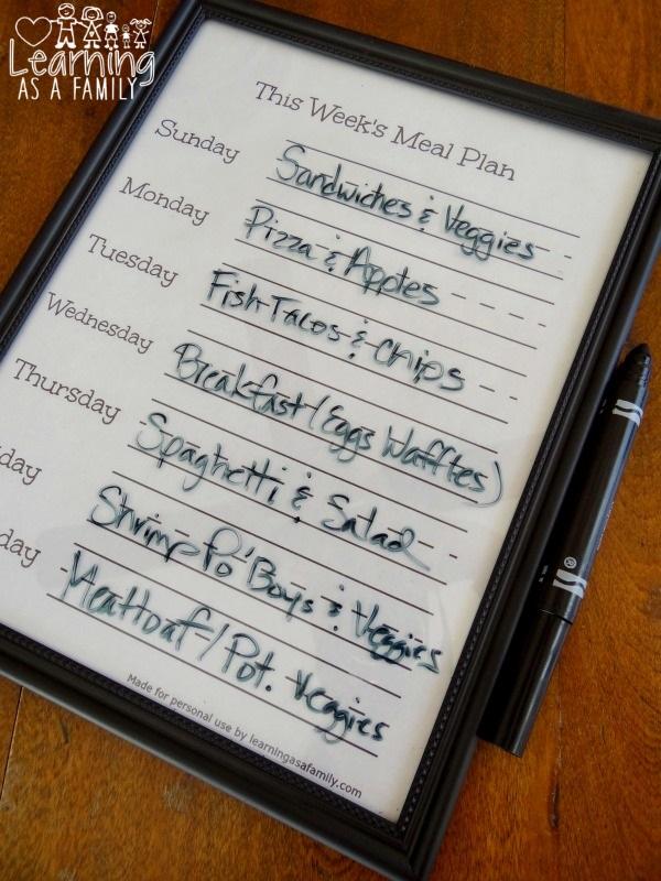 This Week's Meal Plan Printable