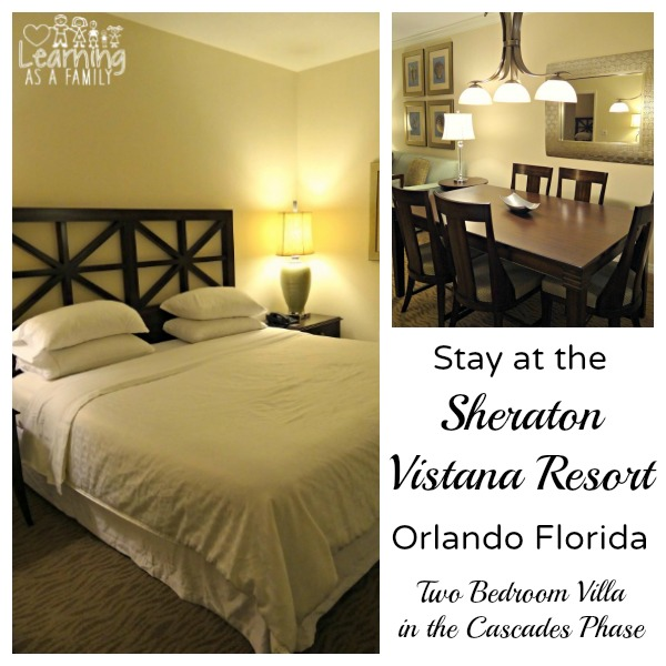 Two Bedroom Villa at Sheraton Vistana Resort Cascades Phase Orlando Florida!