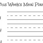 """Erasable Meal Planning Frame! Make Yours With """"This Week's Meal Plan"""" Printable!"""