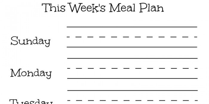 "Erasable Meal Planning Frame! Make Yours With ""This Week's Meal Plan"" Printable!"