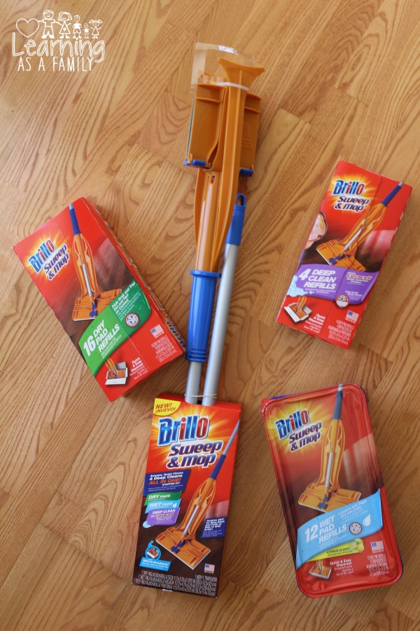 Brillo Sweep & Mop with cleaning Pads