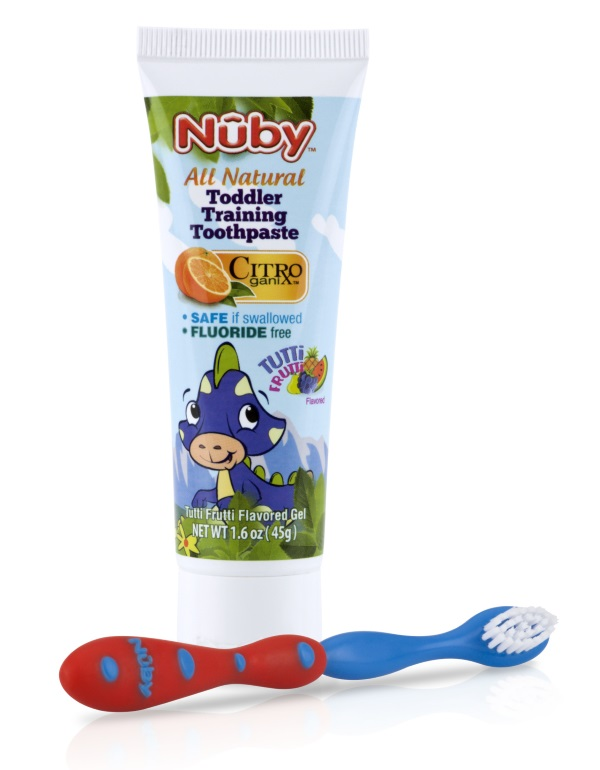 Nuby All Natural Toddler Training Toothbrush & Toothpaste