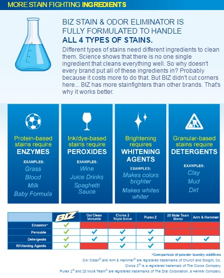 BIZ Stain Fighting Infographic