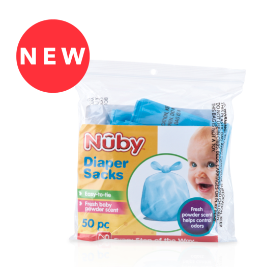 Nuby 50 pc Scented Diaper Sacks
