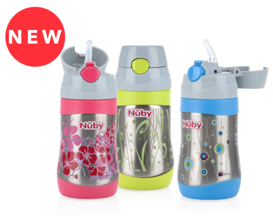 Nuby Insulated Stainless Steel No-Spill Flip-it