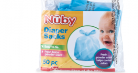Nuby Scented Diaper Sacks Review and 50 Pack Giveaway!