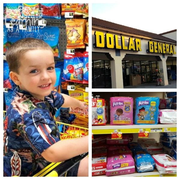 Shopping at Dollar General for Pull-Ups