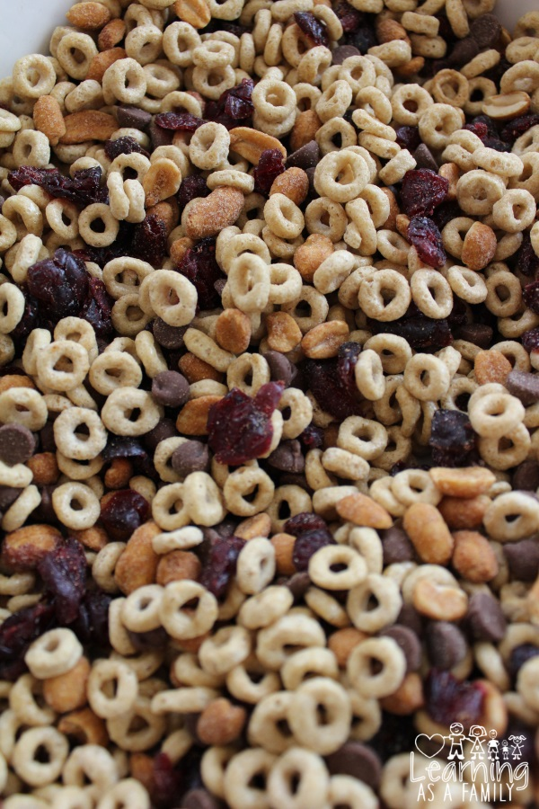 Rainy Day Trail Mix with Honey Nut Cheerios