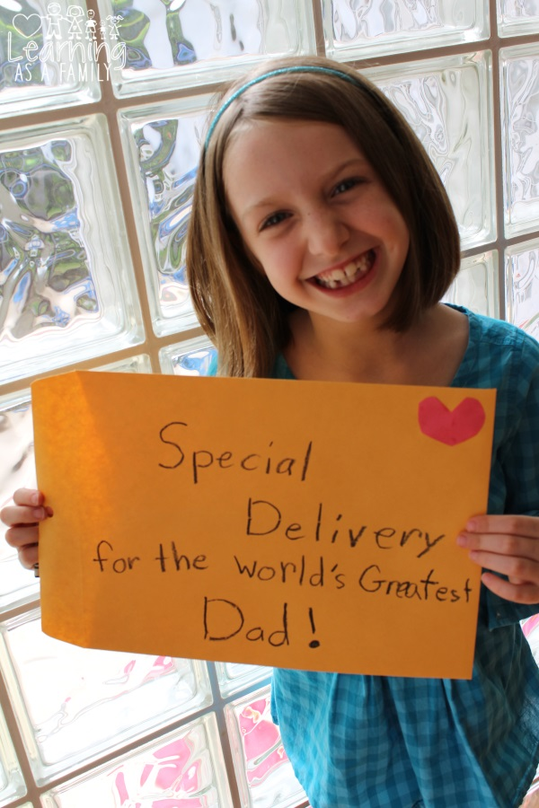 Worlds Greatest Dad Father's Day Craft envelope