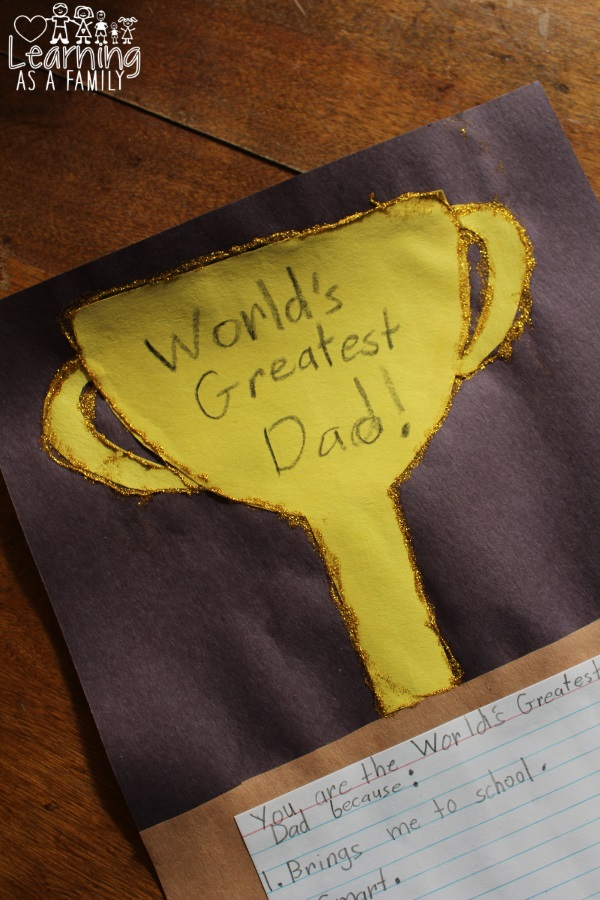 Worlds Greatest Dad Father's Day Craft
