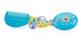 Nuby Comfort Grip Comb and Brush Set Review! My Toddler Loves To Use Them Himself!